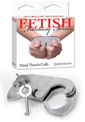 Metal Thumb Cuffs - Fetish Fantasy Series, Pipedream Sexleksaker, Bondage Boja